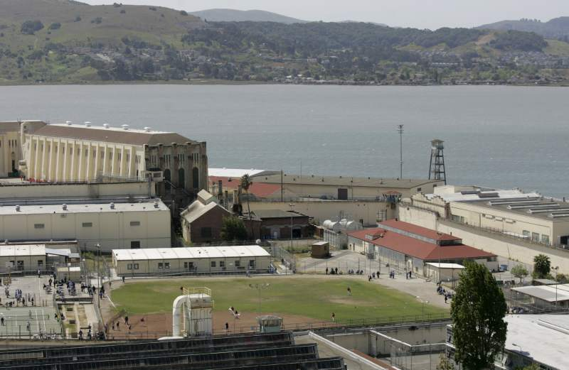 The baseball field where the San Quentin baseball teams play is located right in the middle of the bayside prison. Kent Porter/The Press Democrat