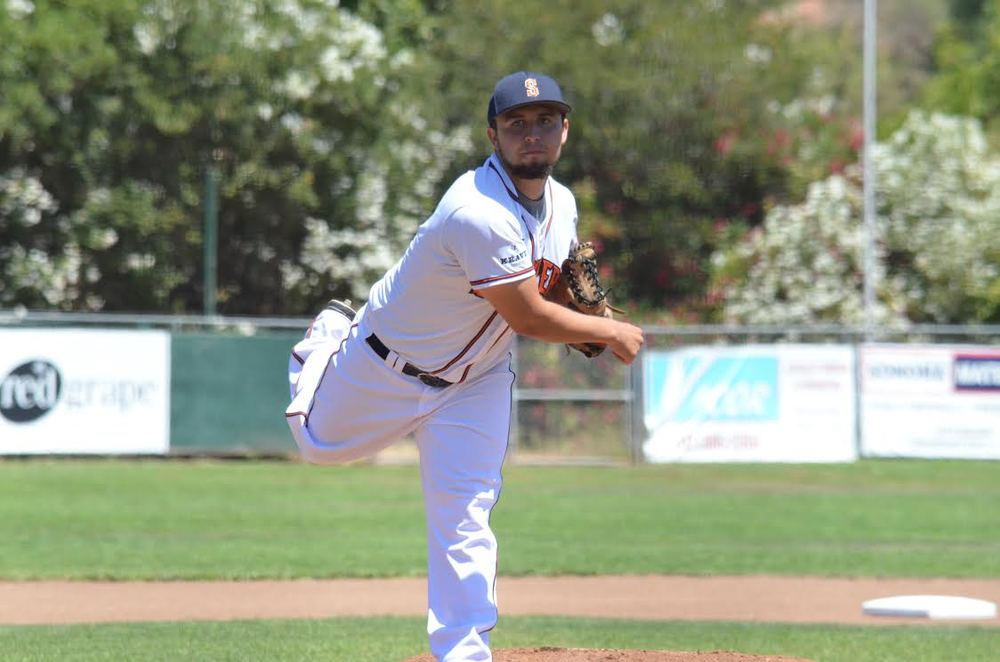 Santos Saldivar is the newest signee of the Milwaukee Brewers and will be reporting to Helena of the Northwest League. James Toy III/Sonoma Stompers