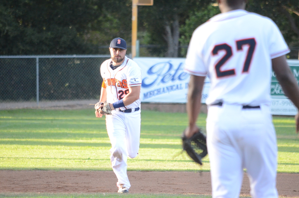 Caleb Bryson finished 2-for-4 in Sonoma's 5-1 loss.   James Toy III/Sonoma Stompers
