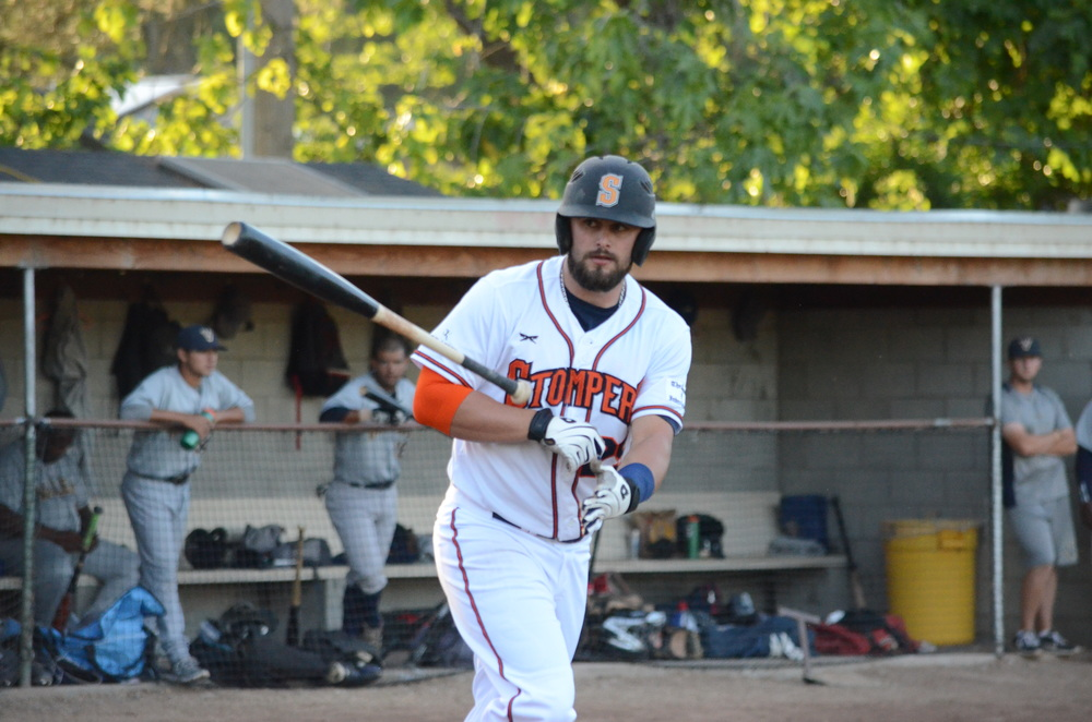 Caleb Bryson hit his fourth home run of the season on Tuesday night.   James Toy III/ Sonoma Stompers