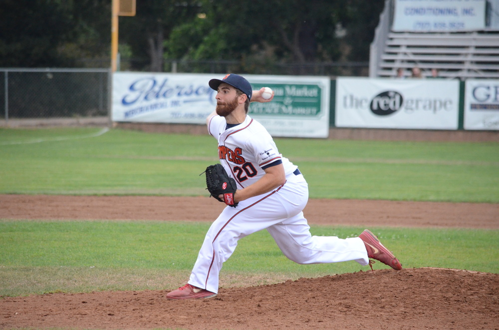 Sean Conroy pitched eight innings allowing only one run and three hits in Sonoma's 11-1 win Friday. James Toy III/Sonoma Stompers