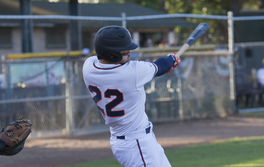 Mark Hurley hit a 2 run home run in the game on Saturday in Sonoma's 9-2 victory.   Rick Bolen/Sonoma Stompers
