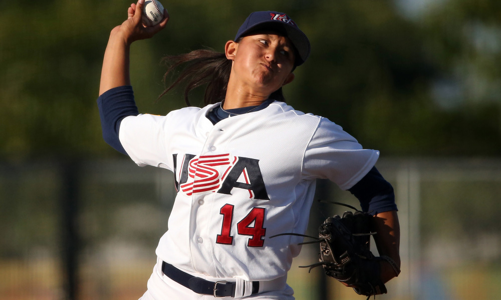 Kelsie Whitmore will be one of two female players to start for the Sonoma Stompers on Friday, along with USA Women's National teammate Stacy Piagno.   USA Today Photo Services