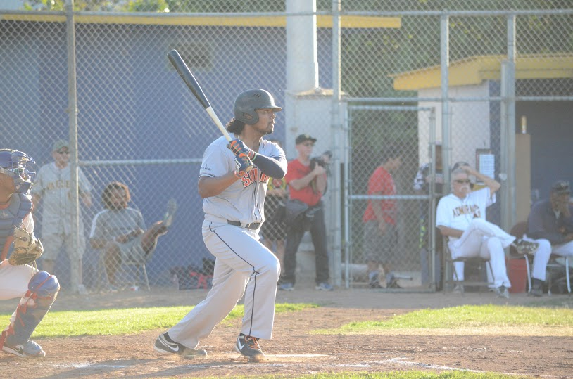 Daniel Baptista found his swing in Sonoma's 5-4 loss to San Rafael Thursday. Baptista finished 3 for 3 with a homer and three RBIs. Jamers Toy III/Sonoma Stompers