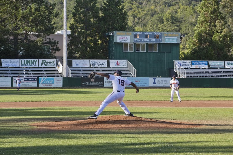 Mike Jackson Jr. had one of his best performances of the season Sunday, going nine innings and allowing two runs, seven hits, and only two walks.   James Toy III/Sonoma Stompers