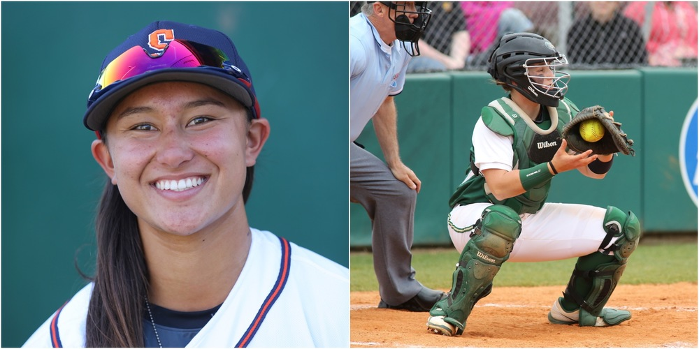 Kelsie Whitmore (left) and Anna Kimbrell (right) will become the first female battery in professional baseball history on Friday, July 22 at People's Home Equity Ballpark in Sonoma, Calif. when the Stompers host the Pittsburg Diamonds. Both women are members of the United States Women's National Baseball Team.   Rick Bolen/Sonoma Stompers & Staff Photo/Alabama.com