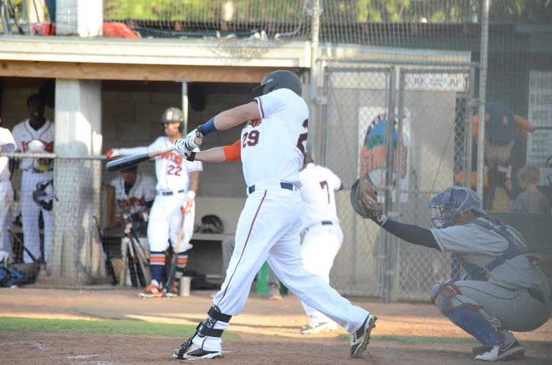 Caleb Bryson gave the Stompers the lead with a 2-run homer in the fifth inning Tuesday  against the Pacifics. Bryson finished 2 for 4 with two runs driven in.    James Toy III/ Sonoma Stompers