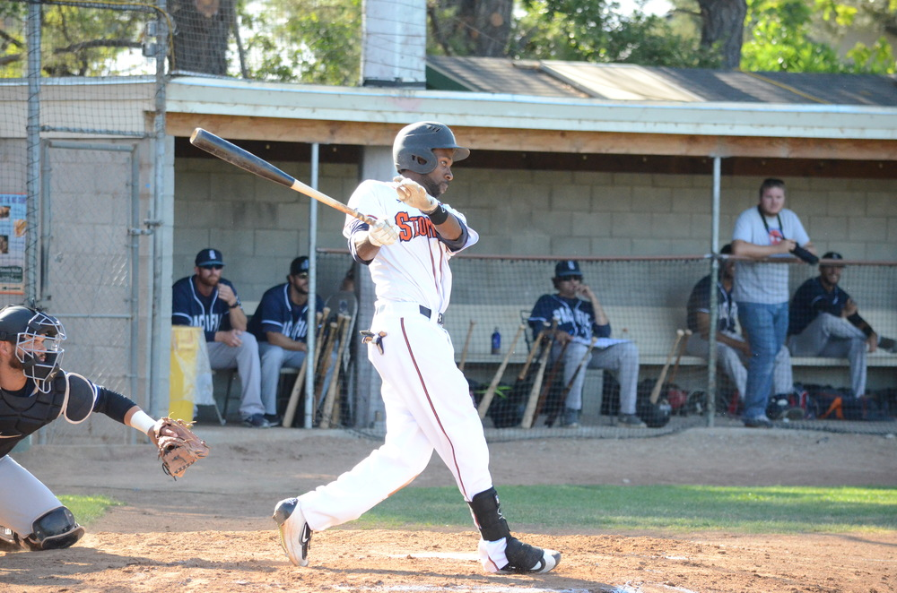 Derrick Fox reached base in all five of his plate appearances Thursday in a 6-5 win for the Stompers. Fox was 2 for 2 with three walks and an RBI.  James Toy III/Sonoma Stompers