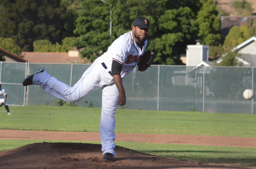Oliver Garcia had a season high 10 strikeouts in a 13-1 win over the Diamonds Tuesday. Garcia allowed only one run in five innings pitched to pick up his third win of the season. James Toy III/Sonoma Stompers