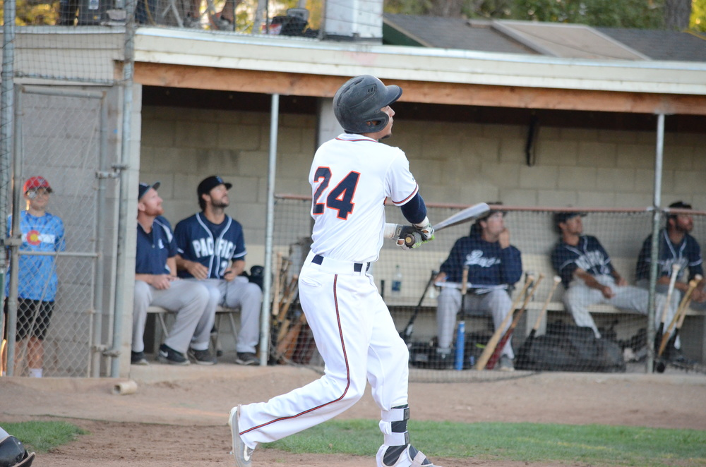Randy Santiesteban hit his second home run of the season in a 13-4 win Tuesday over the Pacifics. Santiesteban finished 2 for 5 with 3 RBIs in the game.   James Toy III/Sonoma Stompers