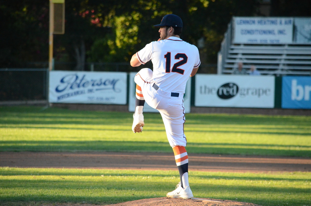 Erik Gonsalves was outstanding in the Stompers 8-2 win over the Pacifics. Gonsalves pitched eight innings and struck out five to get his first win as a starter this season. James Toy III/Sonoma Stompers