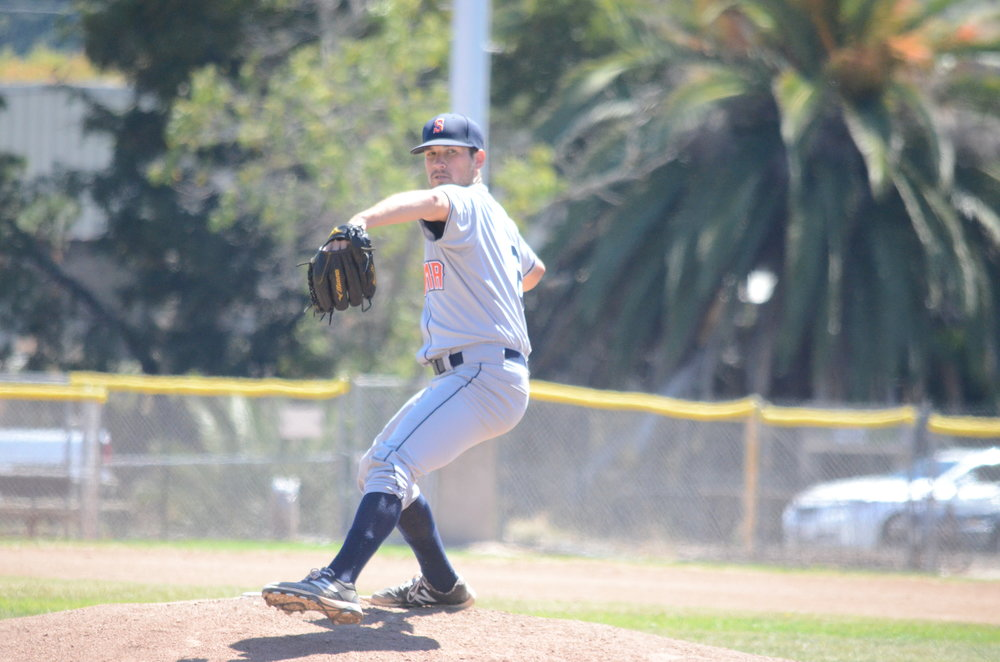 Pat Lemmo went seven innings strong in the Stompers 3-2 loss to the Pacfics Sunday. Lemmo allowed 2 runs on six hits and struck out one.   James Toy III/Sonoma Stompers