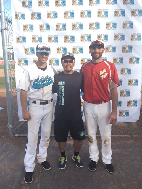 Matt LoCoco (left) and Alex Sawelson (right) were two of three players signed by Stompers Manager Takashi Miyoshi at the California Winter League.
