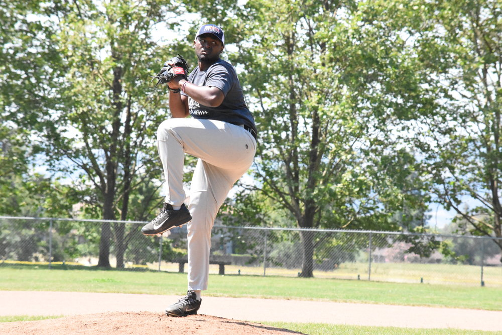 Starting Pitcher Mike Jackson Jr. Impressed in the Stompers 8-2 victory against the San Rafael Pacifics Sunday. Jackson Jr. did not allow a run, and struck out 5 in three innings of work.    James Toy III/Sonoma Stompers