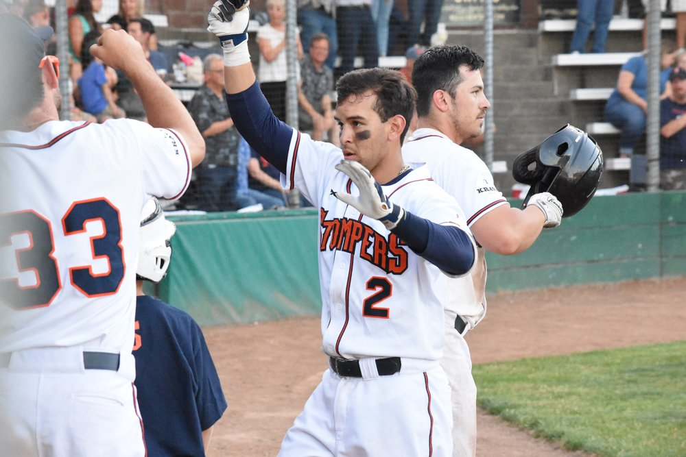 Eddie Mora-Loera went 3 for 4 with two doubles and a home run in Thursday's 5-1 victory over the Vallejo Admirals at Peoples Home Equity Ballpark at Arnold Field. (James W. Toy III / Sonoma Stompers)