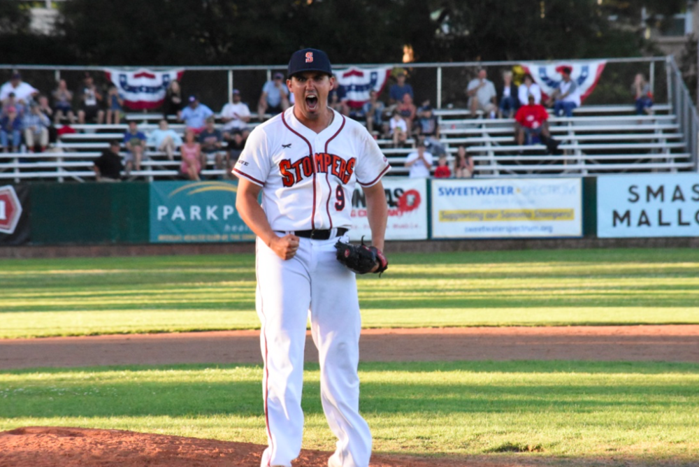 Sonoma Stompers starter Juan Espinosa pitched a complete-game shutout in Tuesday's 5-0 victory over the Pittsburg Diamonds and has allowed just one earned run in his last three starts. (James W. Toy III / Sonoma Stompers)