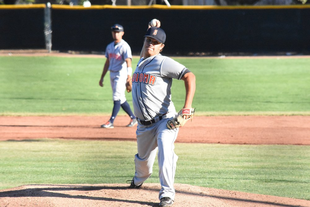 Taylor Thurber shut out the Pittsburg Diamonds through seven innings in Tuesday's 1-0 Victory for the Sonoma Stompers at Winter Chevrolet Stadium. (James W. Toy III / Sonoma Stompers)