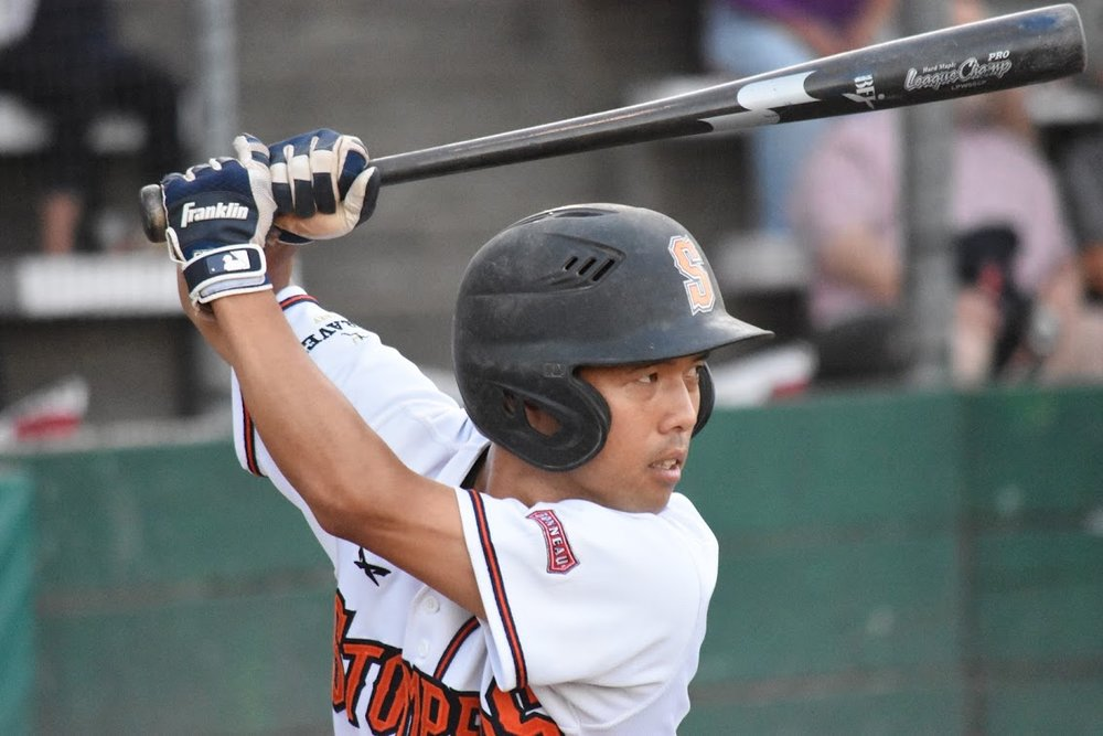Shortstop Masa Miyadera is one of two Japanese-born starting players on the Sonoma Stompers, who are lead by Japanese-born manager Takashi Miyoshi. (James W. Toy III / Sonoma Stompers)