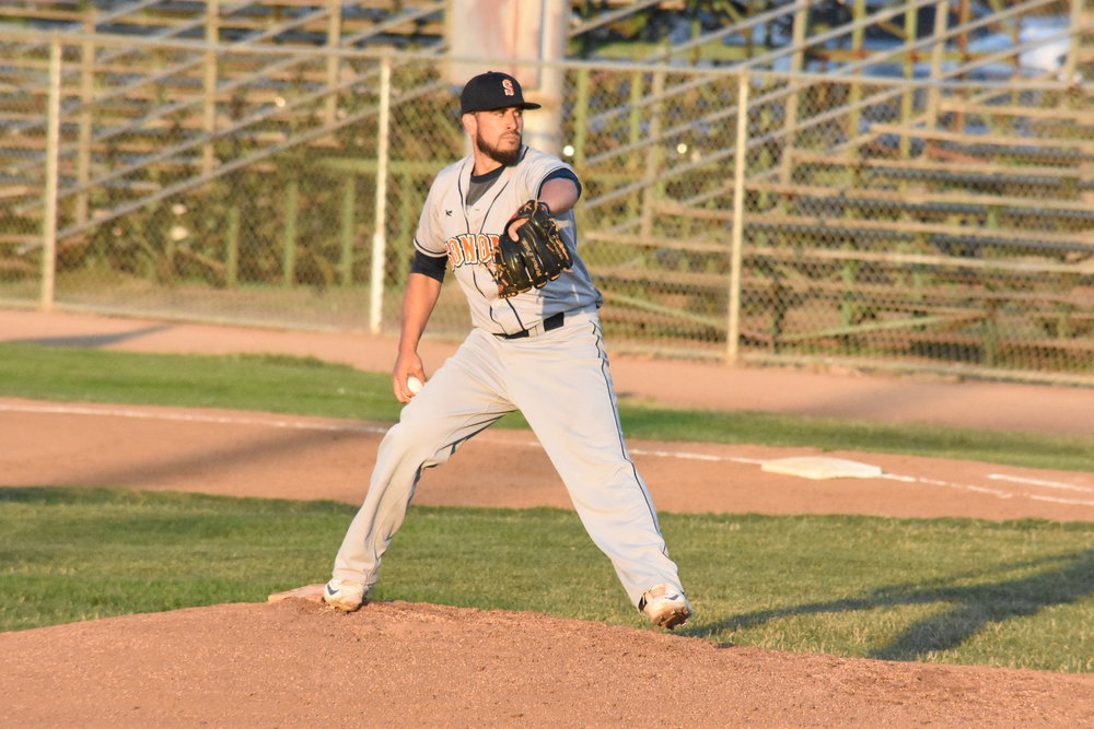 Erik Gonsalves pitched four scoreless innings in his first start of 2017 in Thursday's 4-3 victory over the Vallejo Admirals at Wilson Park (James W. Toy III / Sonoma Stompers)