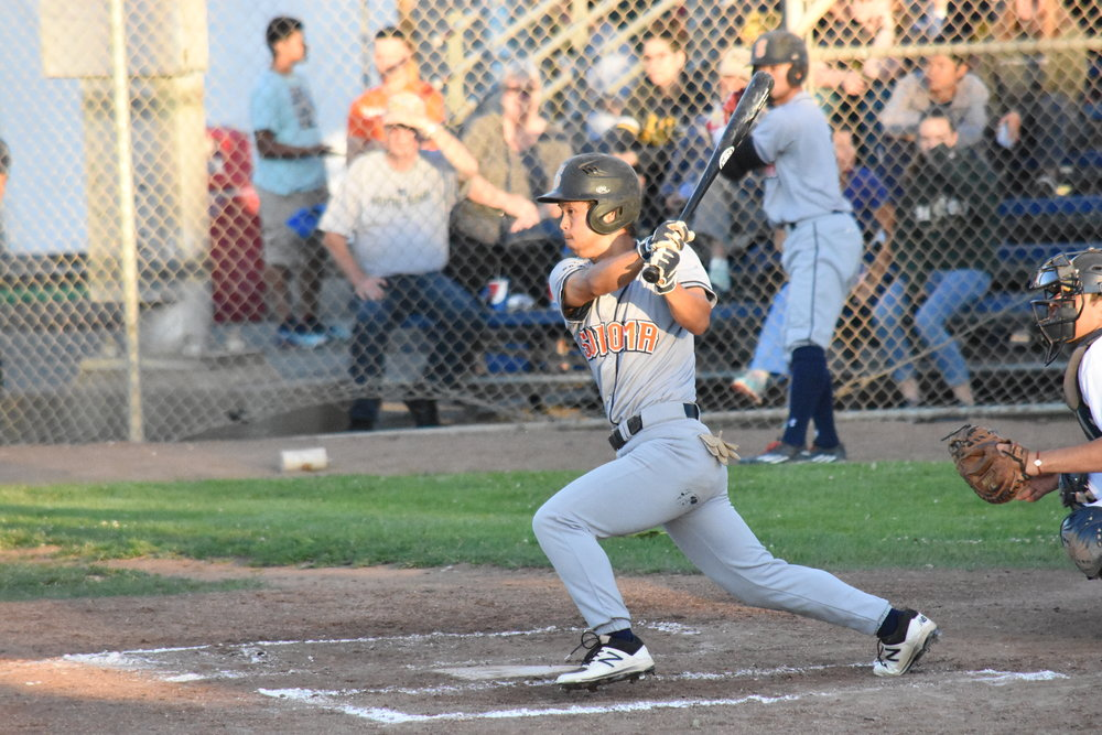 Masa Miyadera went 3 for 3, tripling in the ninth inning of Friday's 13-3 Sonoma Stompers loss to the Vallejo Admirals at Wilson Park.
