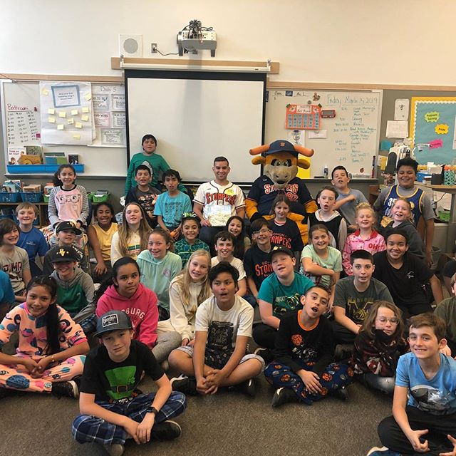A special thank you to Madrone Elementary School for having our team talk about the importance of education, team work and physical fitness. Our team and Rawhide had a blast!