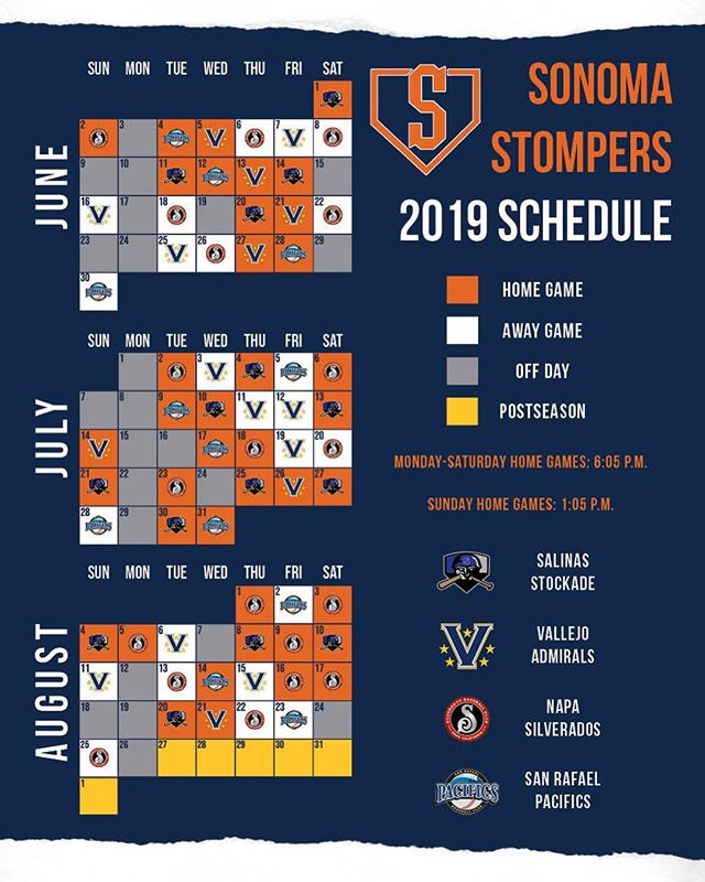 Mark your calendars, the 2019 schedule is here!! 🙌⚾️🔥