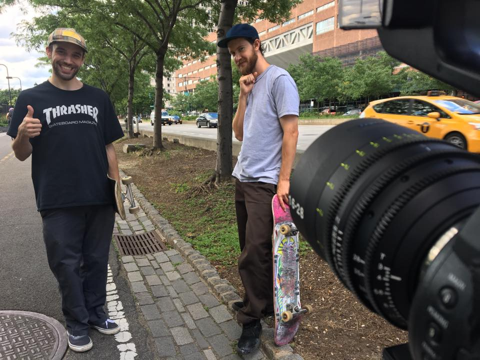 BTS of Daniel and his good skate friend Ben Snawder who joined the production to also skate and do interviews, which I filmed of them on the  Tokina 16mm-28mm Vista Zoom , at this cool downtown Tribeca location.