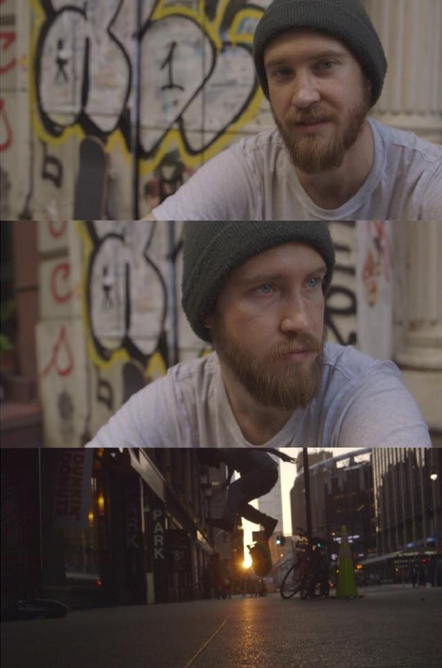 Screengrabs, raw and untouched in C-log of interview and skate footage shot with the the Tokina  16mm-28mm Vista Zoom