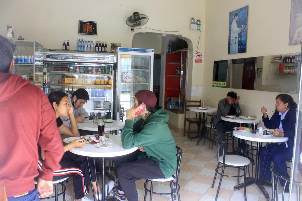 Golden Food vegan restaurant in Lima, Peru. Ph. by Mari Santa Cruz.
