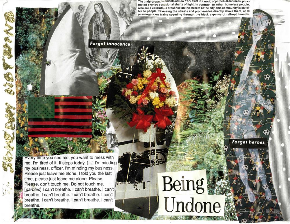 """Pagina del zine  """"In a Glittering Fury"""" por Maya Reyes"""