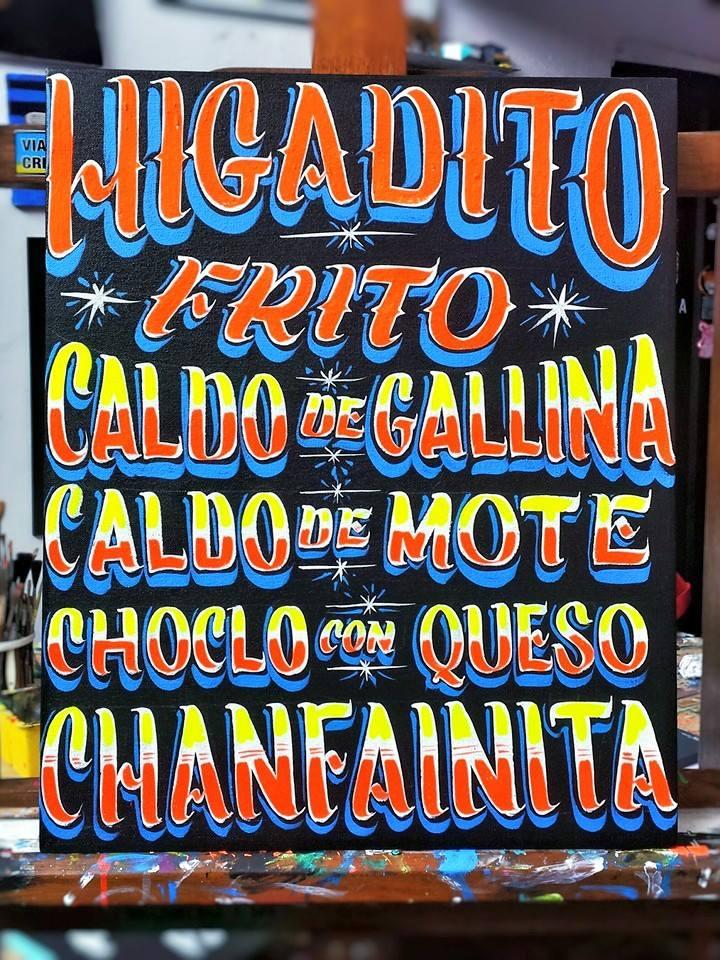 Menú carretillero -Homenaje a la comida popular de la calle.FOTO CREDIT: Carga Máxima.