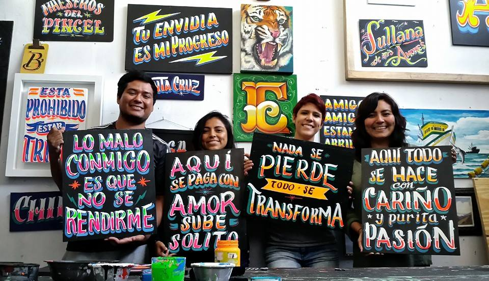 Taller de Letreros a Puro Pulso // Workshops.FOTO CREDIT: Carga Máxima