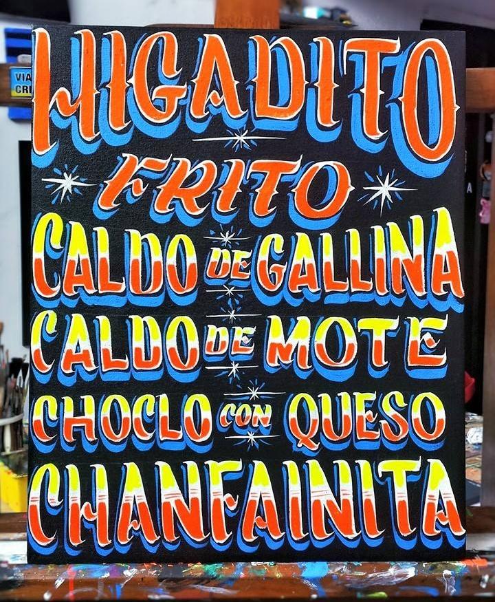 Menú carretillero -  Homenaje a la comida popular de la calle.  FOTO CREDIT: Carga Máxima.
