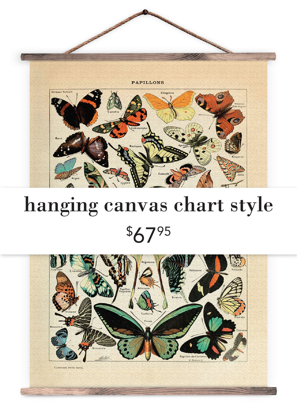 Hanging Canvas Chart Style ($67.95)
