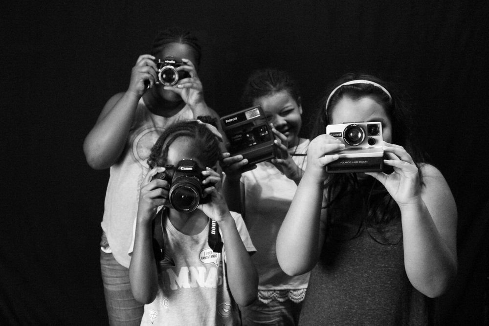 Youth participating in the new photography program at CYC-Elliott Donnelley Youth Center.