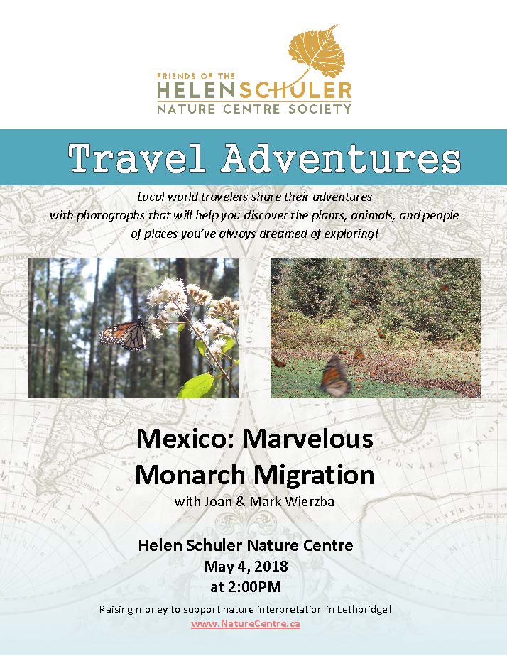 Travel Chats - May 2018 - Joan and Mark Wierzba - Marvelous Monarch Migration.jpg