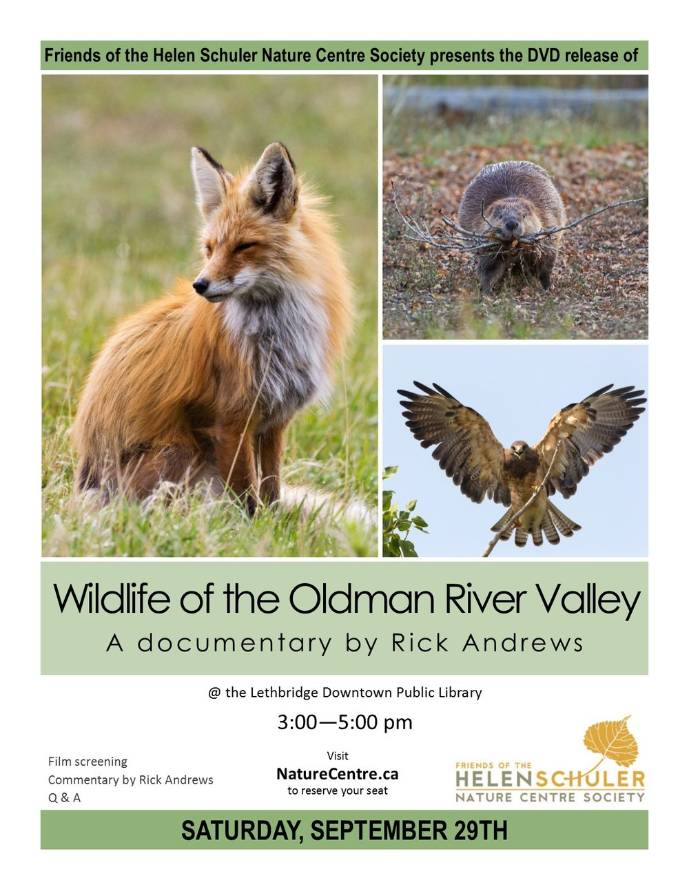 Wildlife of Oldman River Valley Poster