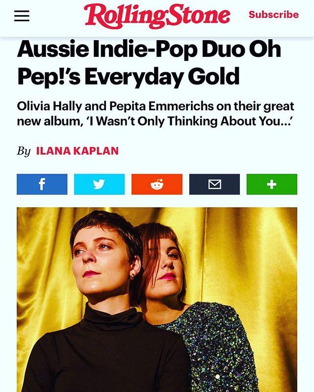 Ah, check it! It's our Rolling Stone interview! 📸 @ebruyildiz ❤️