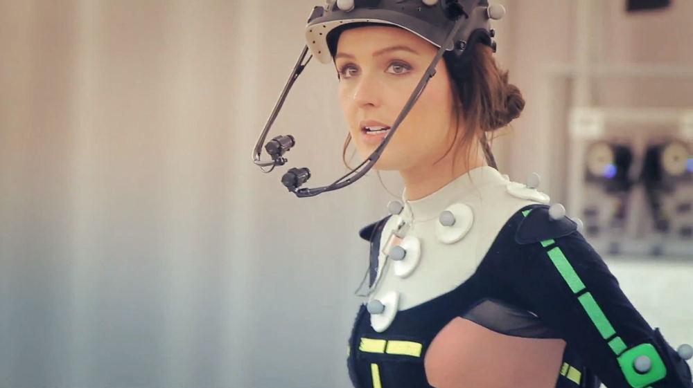 Camilla Luddington performing for Tomb Raider