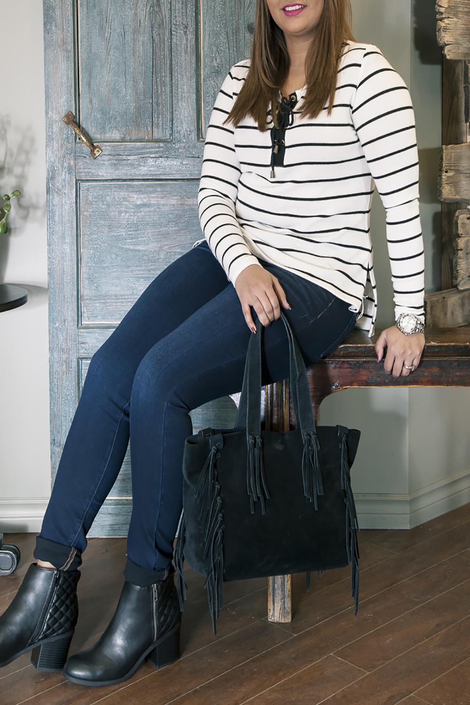 Bella-Maas-Edmonton-Spring-trends-fashion-stripes-Mia-shoes-fringe-bag-black-and-white