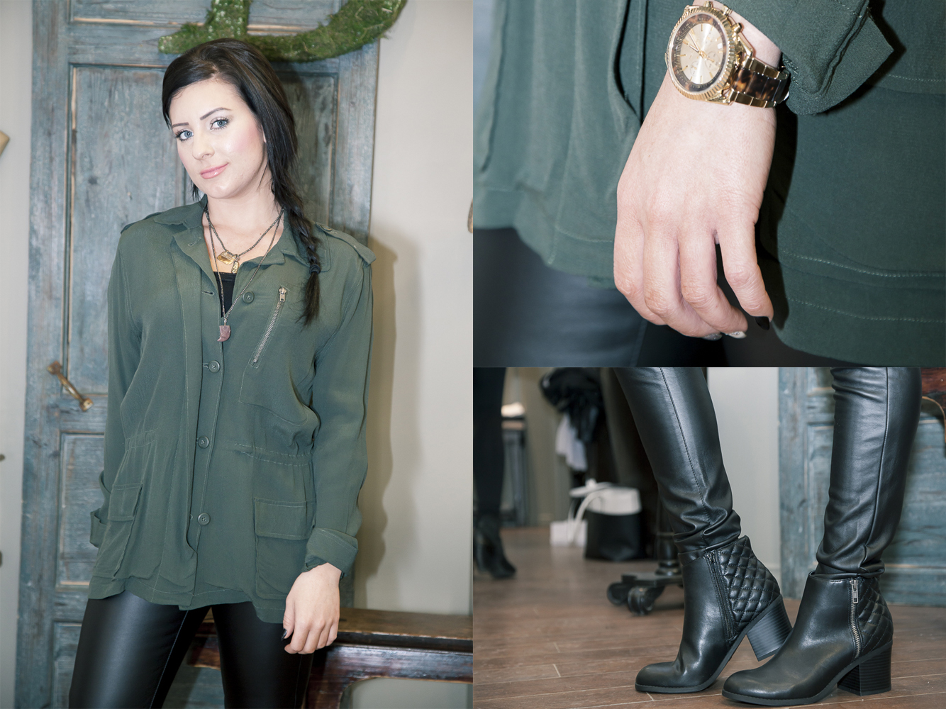 Bella-Maas-Boutique-bb-dakota-mia-shoes-margo-black-michael-kors-watch-army-jacket-spring-yeg-edmonton-sherwood-park-st-albert-fashion-style
