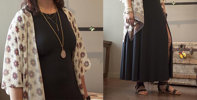 bella-maas-boutique-st-albert-sherwood-park-summer-spring-fashion-kimono-pink-martini-casablanca-top-michael-kors-tee-maxi-emu-australia-jacana-sandal