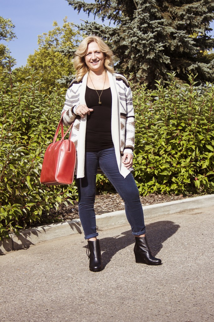 bella maas boutique fashion fall cardigan boots wedges st albert sherwood park 2014 01