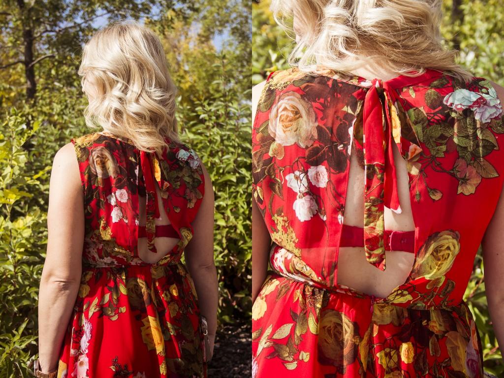 fashion bella maas dress floral red shop st albert sherwood park boutique fashion fall 03