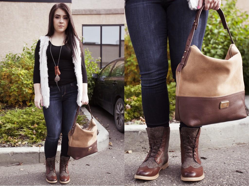 bella maas edmonton shop local boutique jeans boots angora vest fall fashion style 2014 02