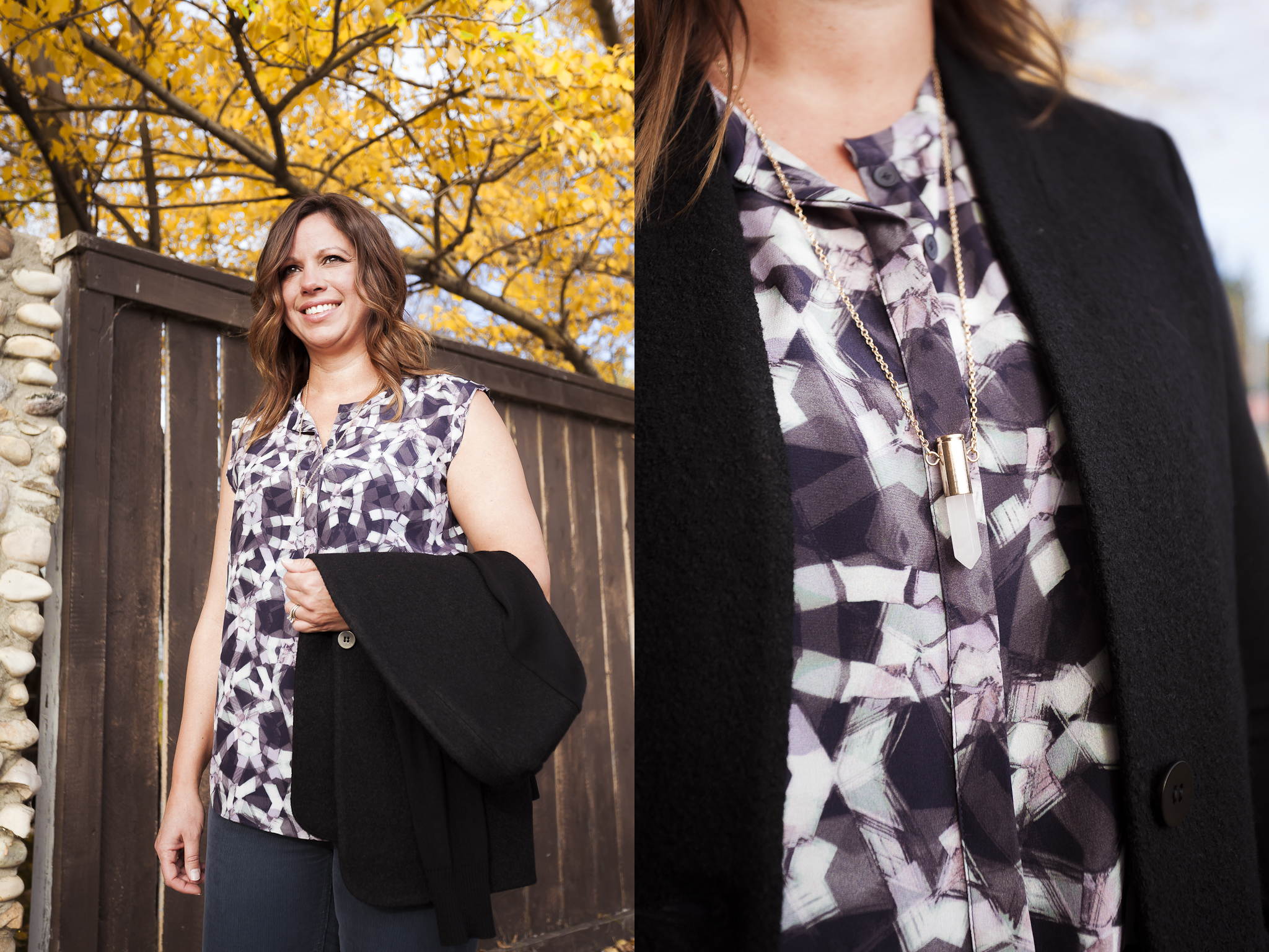 bella maas edmonton boutique sherwood park st. albert rebecca taylor floral blouse fall fashion 2014 06
