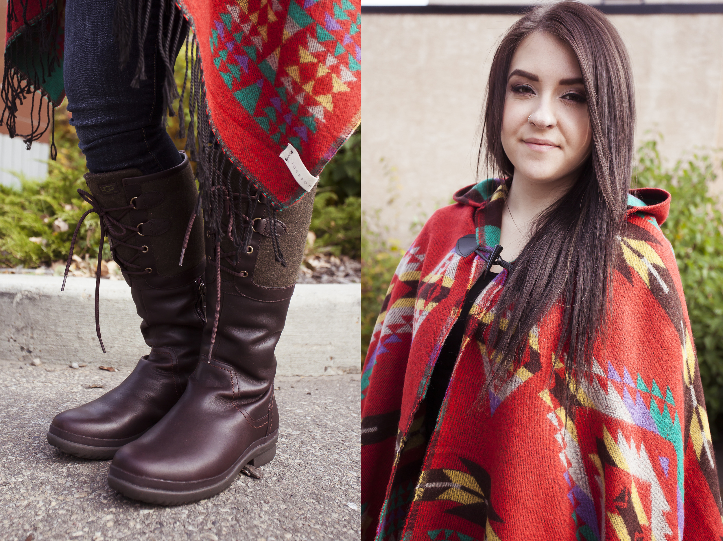 bella maas boutique sherwood park st albert fall 2014 jackson rowe poncho ugg boots jeans 02