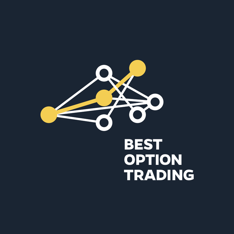Logo - 'Artificial Intelligence for Options Trading'The design stylized a typical node-edge network generated when determining composition of a strategy. It was adapted from a diagram found in the patent filing. The white path symbolizes the optimal combination of options prices and expirations to comprise a complex option strategy.