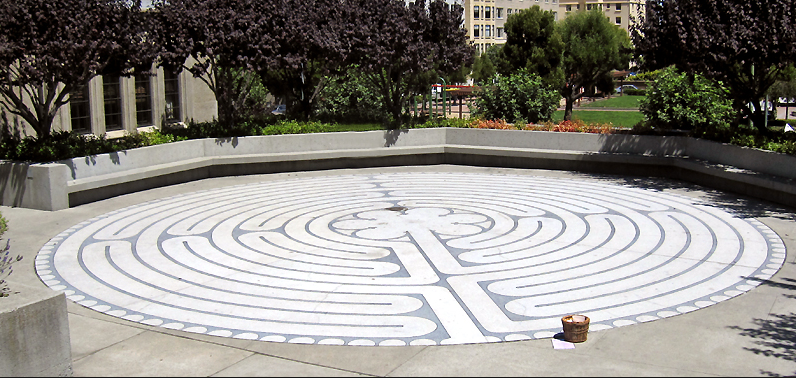 Grace Cathedral, San Fransisco CA Outdoor Chartres Labyrinth