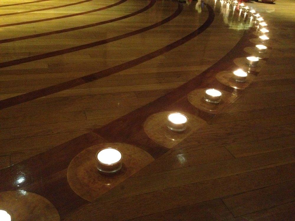 Trinity Episcopal Church, NW Portland, OR. New Years Eve labyrinth walk, 12/31/16